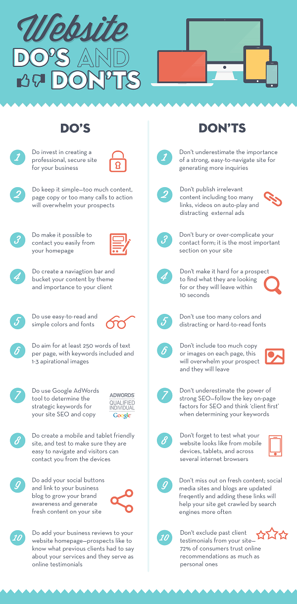 interessante website'do's & don'ts'