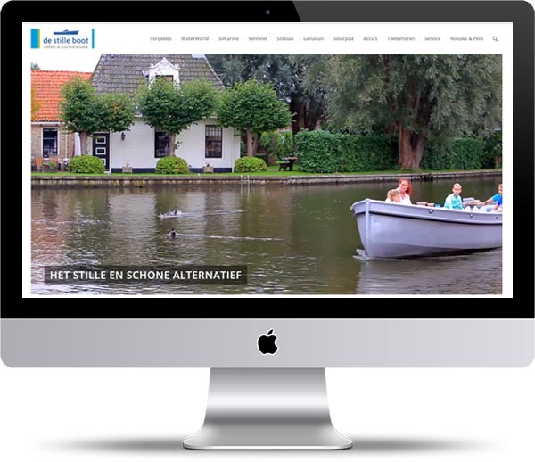Webdesign voor de watersport